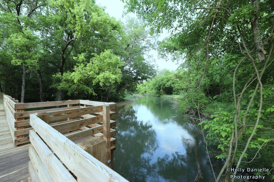 bridge bump out at City Lake overlooking Flint Creek
