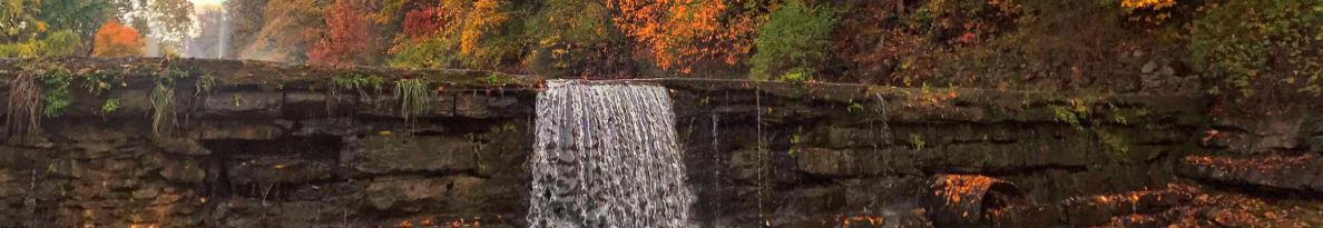Sager Creek Dam in the fall