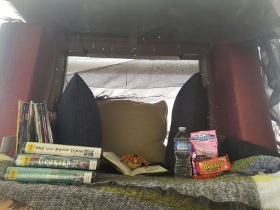This is a homemade fort as an example for the fort challenge.